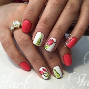 Дизайн ногтей с цветами: модные варианты 2018 с фото