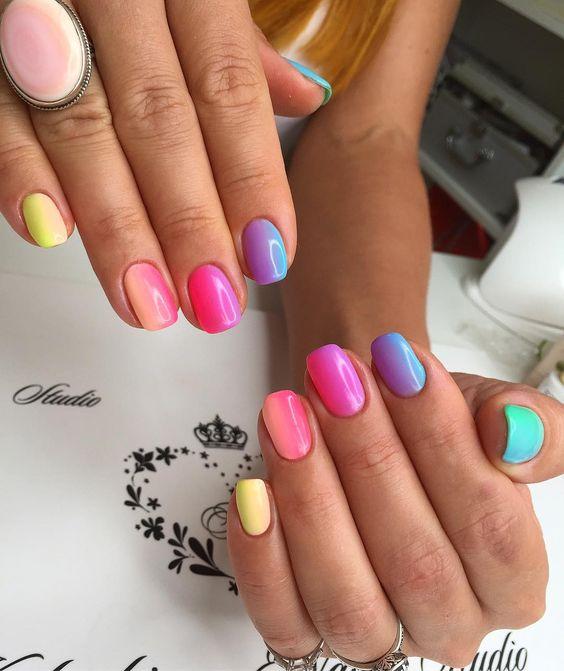 Свежие фото идеи летнего дизайна ногтей.