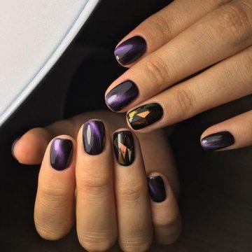 Битое стекло на ногтях: фото-новинки дизайна 2019