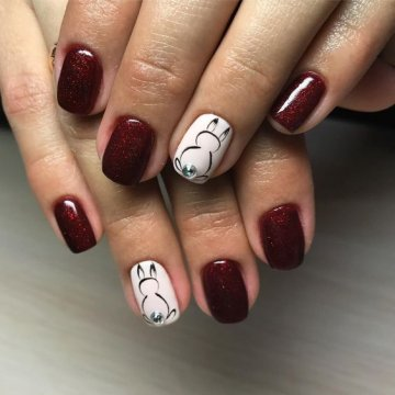 Маникюр с рисунком: модные рисунки на ногтях 2018