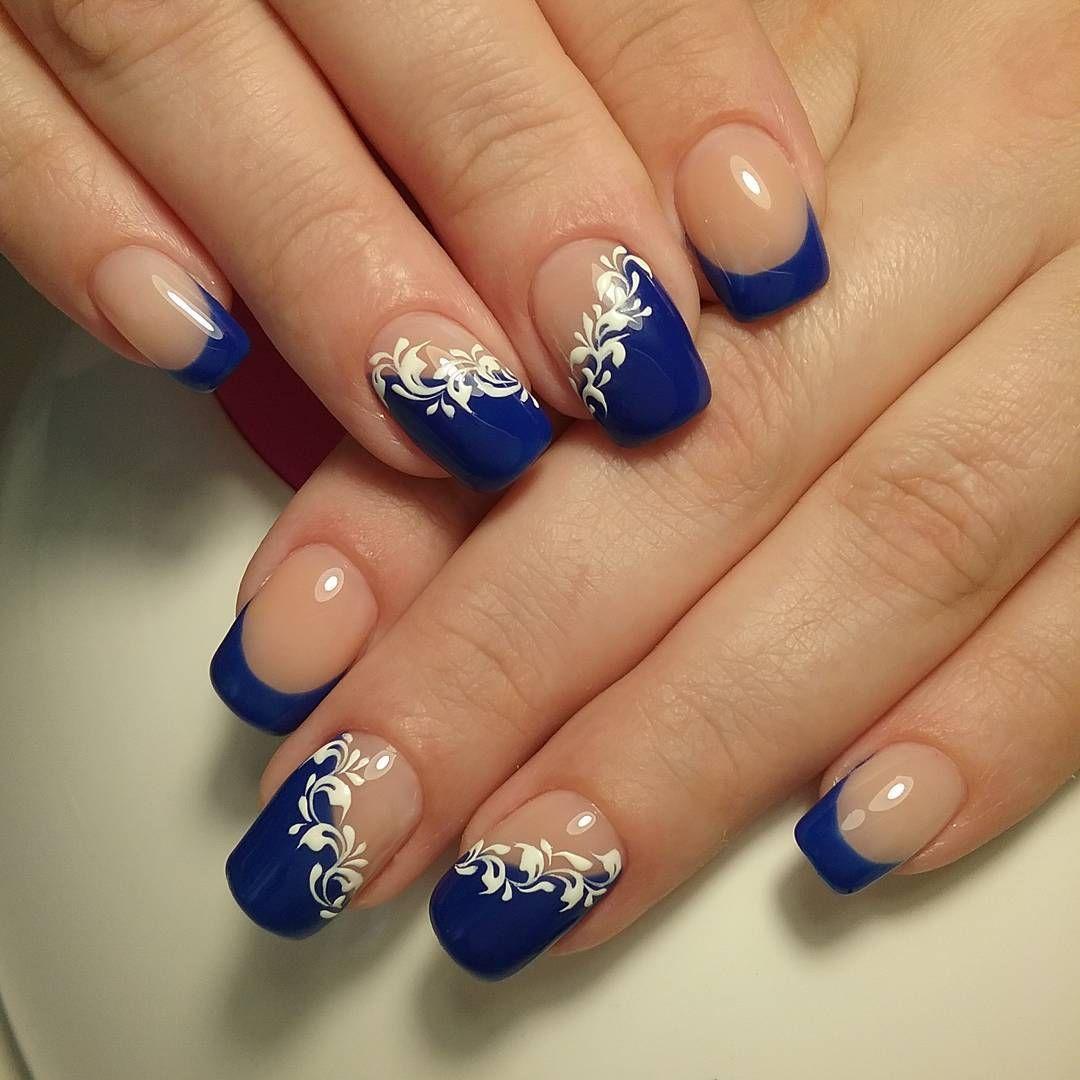 Синий с голубым маникюр: оригинальные идеи дизайна ногтей
