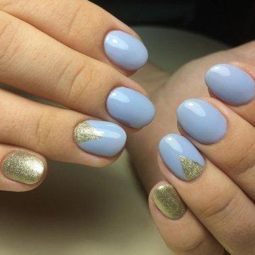 Маникюр голубого цвета: модные тенденции, фото 2018