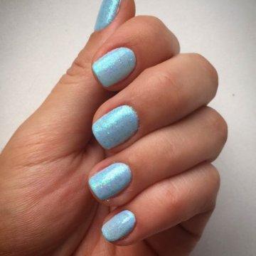 Маникюр голубого цвета: модные тенденции, фото 2019