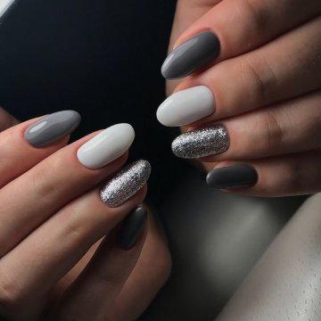 Серый маникюр: модные тенденции, фото 2019