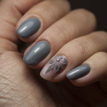 Серый маникюр: модные тенденции, фото 2018