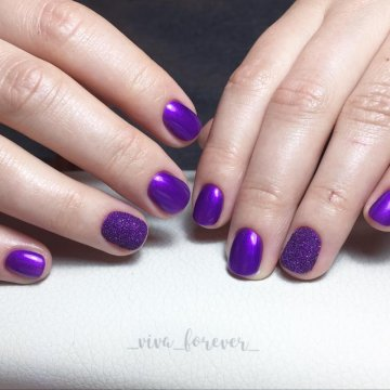 Маникюр в фиолетовых тонах: фото-новинки 2018