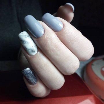 Мраморный маникюр: модные тенденции, фото 2019