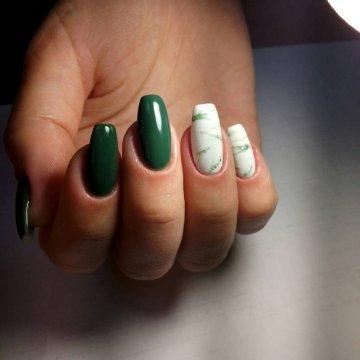 Мраморный маникюр: модные тенденции, фото 2018