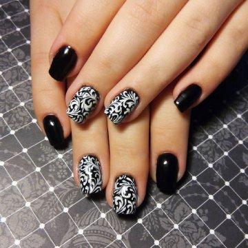 дизайн ногтей розовый с черным фото новинки