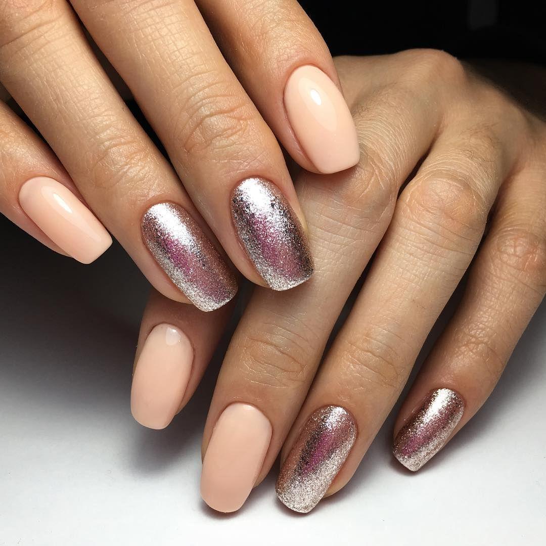 Короткие Ногти Обычный Лак Фото