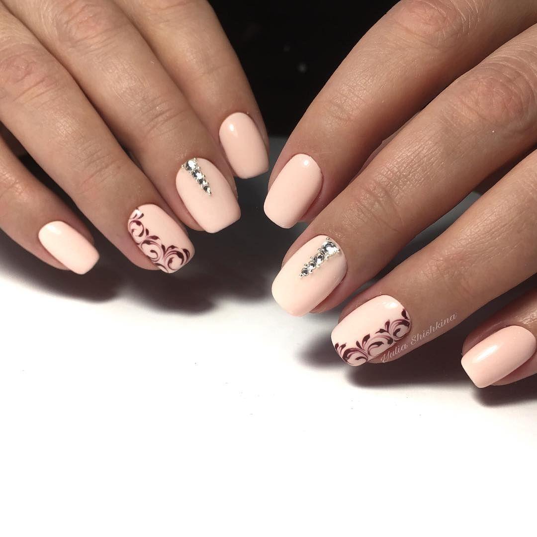 Нежно Розовый Маникюр С Дизайном Фото