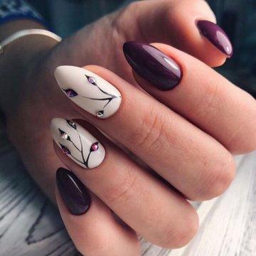 Красивый маникюр на миндалевидные ногти 2018 новинки 66 фото 67