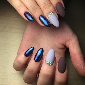 Миндалевидная форма ногтей: фото-новинки 2019