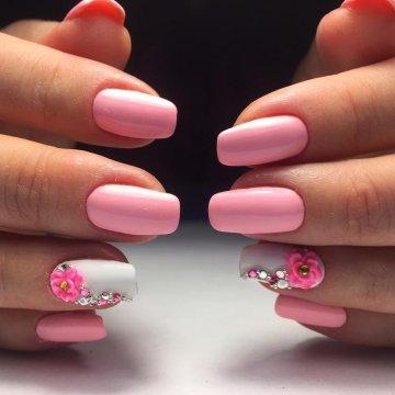 Бордовые Короткие Ногти Дизайн