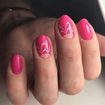 Розовый маникюр: модные тенденции, фото-идеи 2018