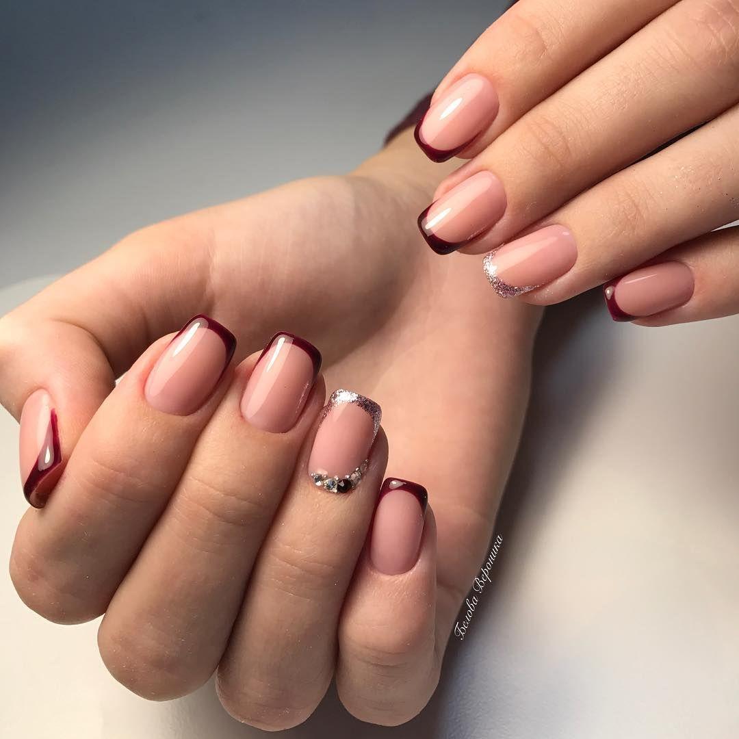 Маникюр френч на квадратные ногти фото