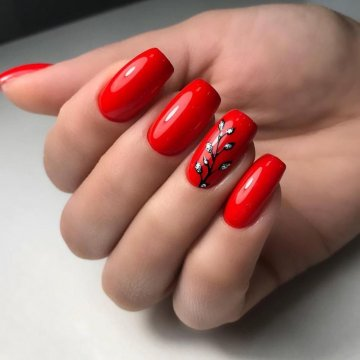 Красный дизайн ногтей: 130 топ фото-новинок 2019