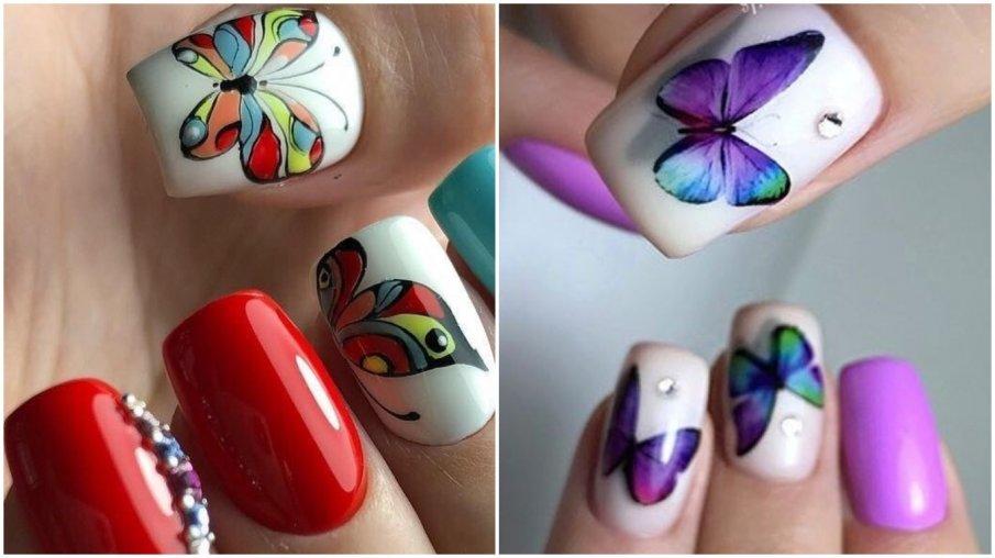 Красивый маникюр с бабочками: 94 топ фото-идеи