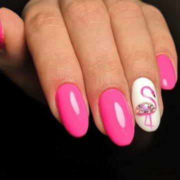 Рисунок фламинго на ногтях: 102 фото-идеи дизайна